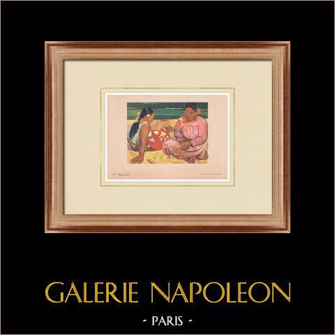 Post-Impressionism - Women of Tahiti (Paul Gauguin) | Original polychrome print after Paul Gauguin. 1950