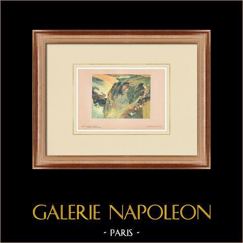 Post-impressionisme -fluitist op de Klif - Bretagne (Paul Gauguin) |
