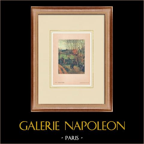 Post-impressionisme - Landschap van Bretagne (Paul Gauguin) |