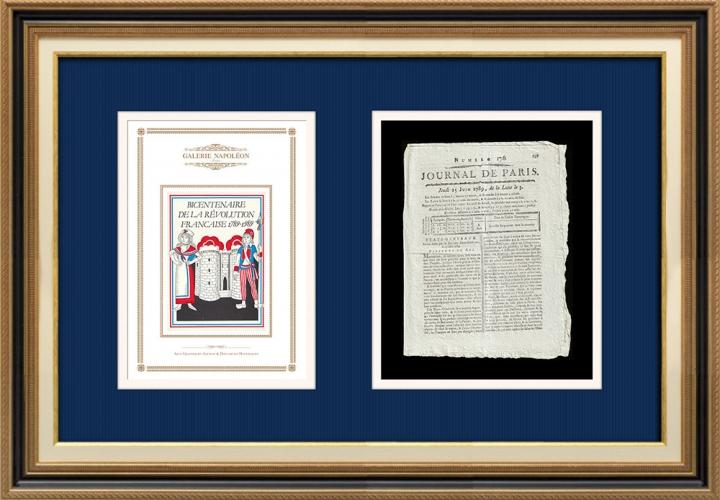 French Revolution - Journal de Paris - Thursday, June 25, 1789 | Bicentennial of the French Revolution
