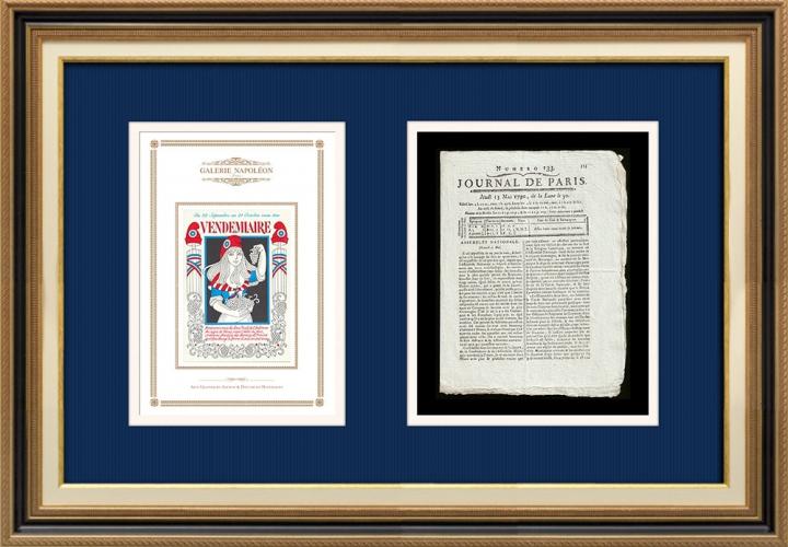 Revolução Francesa - Journal de Paris - Quinta-feira, dia 13 de Maio de 1790 | Calendário Revolucionário Francês - Vendémiaire