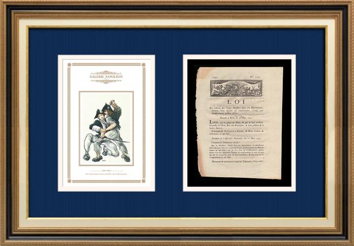 Décret - Louis XVI - 1791 - Remplacement des fonctionnaires absents | Révolution Française - Lutte