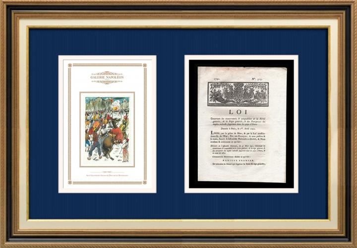 Décret - Louis XVI - 1791 - Comptabilité de la Ferme générale et de la Régie générale | Révolution Française - Attaque de la Bastille