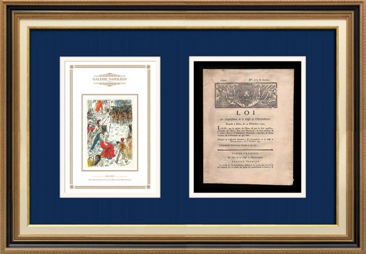 Décret - Louis XVI - 1790 - Organisation de la Caisse de l'Extraordinaire | Révolution Française - Barricades