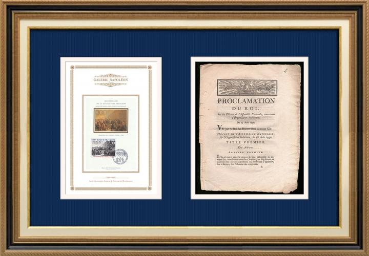 Proclamation du Roi - Louis XVI - 1790 - Organisation Judiciaire | Révolution Française - États Généraux - Assemblée des Trois Ordres à Vizille (1788)