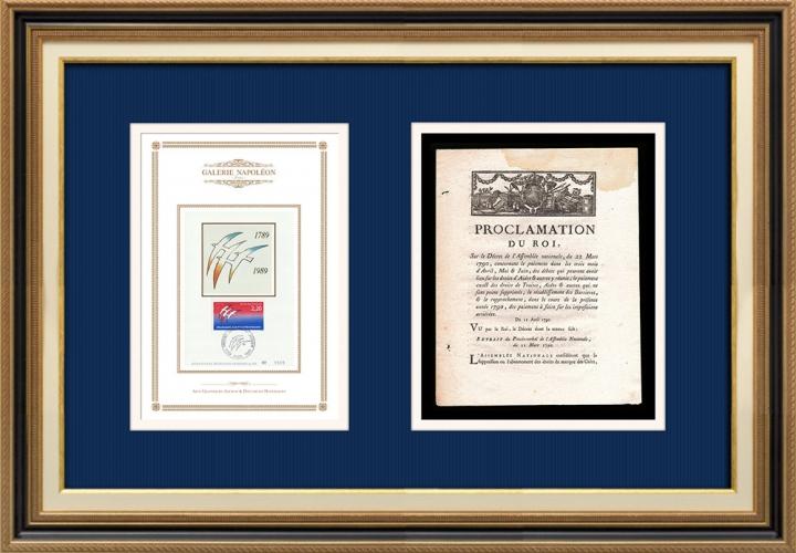 Proclamation du Roi - Louis XVI - 1790 - Paiement des droits d'aides et droits de traites | Bicentenaire de la Révolution Française