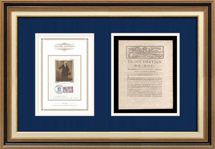 Proclamation du Roi - Louis XVI - 1791 - Commissaires au Comité de la Trésorerie nationale | Portrait de Honoré-Gabriel Riqueti de Mirabeau (1749-1791)
