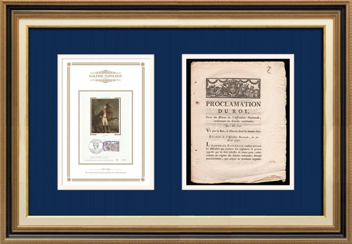 Proclamation du Roi - Louis XVI - 1790 - Garde nationale | Portrait de Gilbert du Motier de La Fayette (1757-1834)