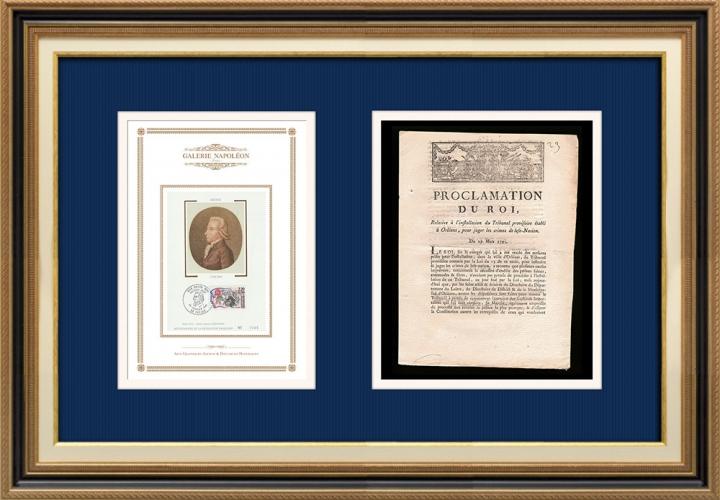 Proclamation du Roi - Louis XVI - 1791 - Installation d'un Tribunal à Orléans | Portrait de Emmanuel-Joseph Sieyès (1748-1836)
