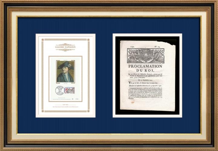 Proclamation du Roi - Louis XVI - 1790 - Réunion des conseils de département | Portrait de Jean-Baptiste Drouet d'Erlon (1765-1844)