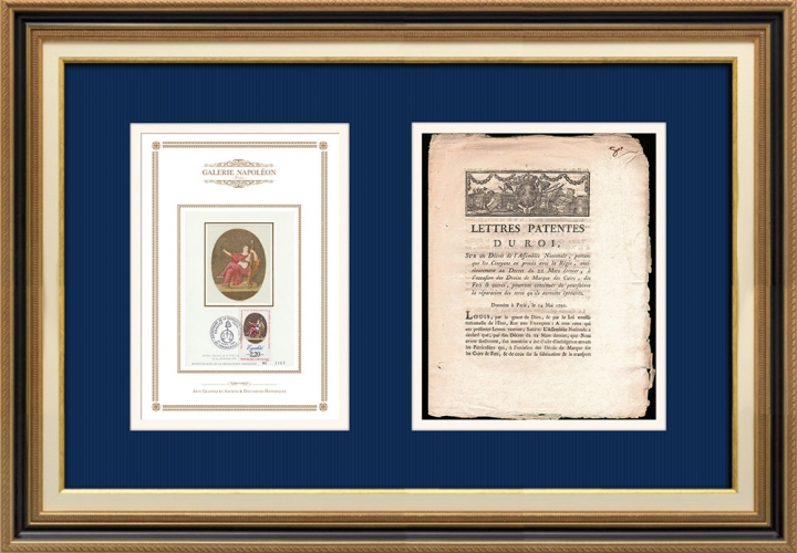 Lettre patente du Roi - Louis XVI - 1790 - Citoyens en procès avec la Régie | Devise de la République Française - Égalité