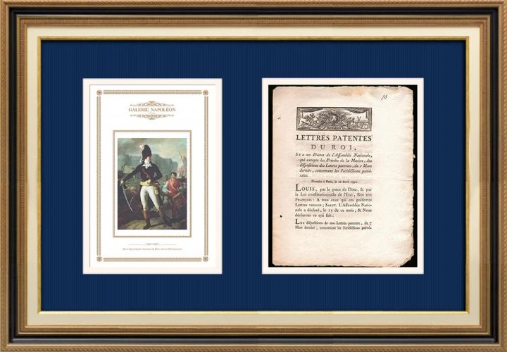 Lettre patente du Roi - Louis XVI - 1790 - Juridictions Prévôtales | Un Gagnant de la Bastille (Charles Thevenin)