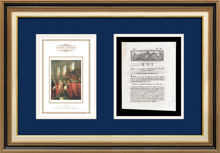 Décret - Louis XVI - 1791 - Dette publique remboursable | Bonaparte au Conseil des Cinq-Cents (François Bouchot)