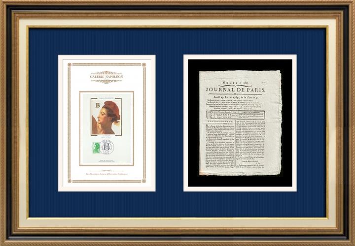 Revolução Francesa - Journal de Paris - Segunda-feira, dia 29 de Junho de 1789 | A Liberdade guiando o povo (Eugène Delacroix)