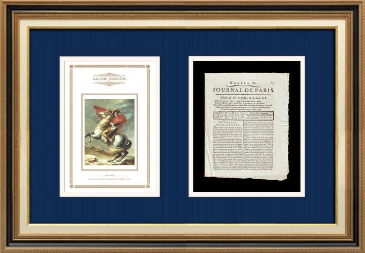 French Revolution - Journal de Paris - Tuesday, June 30, 1789 | Napoleon at the Saint-Bernard Pass (Jacques-Louis David)