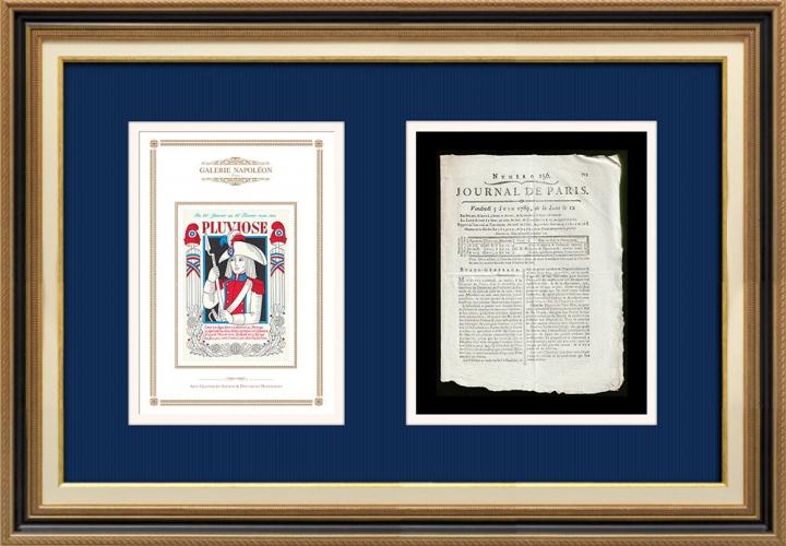 Revolução Francesa - Journal de Paris - Sexta-feira, dia 5 de Junho de 1789 | Calendário Revolucionário Francês - Pluviose