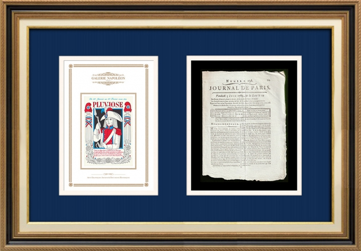 French Revolution - Journal de Paris - Friday, June 5, 1789 | French Republican Calendar - Pluviose
