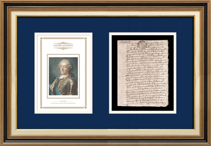 Notarial Act - Louis XV Period (1746) | Portrait of Louis XV of France (Gustaf Lundberg)