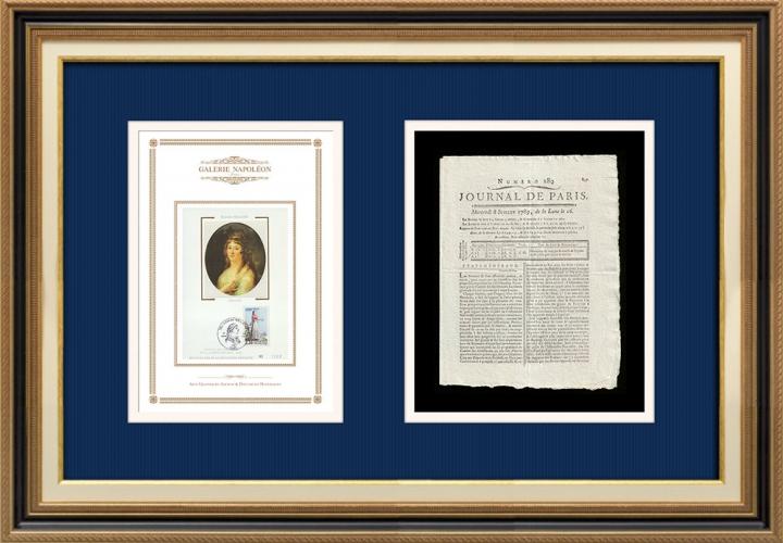 Revolução Francesa - Journal de Paris - Quarta-feira, dia 8 de Julho de 1789 | Retrato de Manon Roland (1754-1793)
