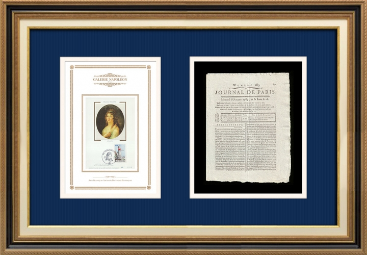 French Revolution - Journal de Paris - Wednesday, July 8, 1789 | Portrait of Manon Roland (1754-1793)