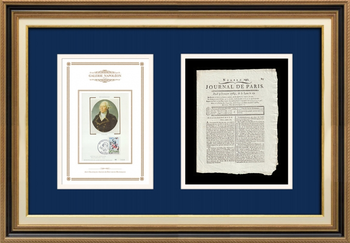 Revolução Francesa - Journal de Paris - Quinta-feira, dia 9 de Julho de 1789 | Retrato de François Christophe Kellermann (1735-1820)