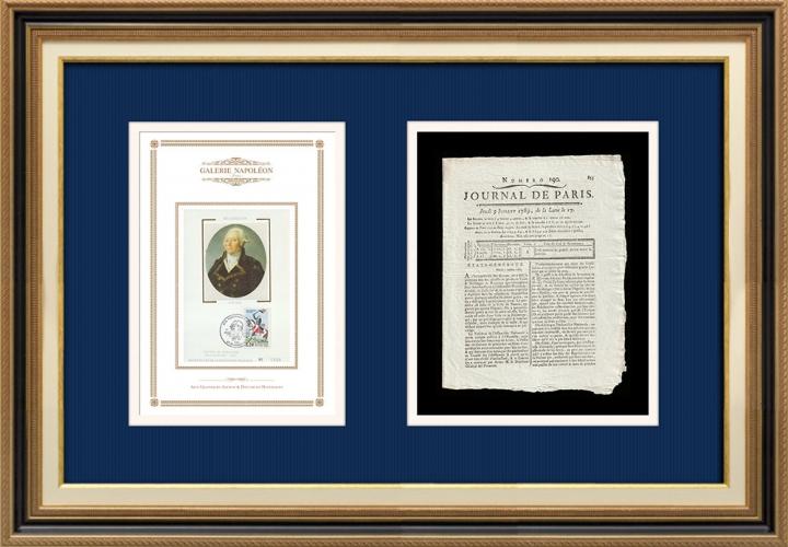 French Revolution - Journal de Paris - Thursday, July 9, 1789 | Portrait of François Christophe Kellermann (1735-1820)