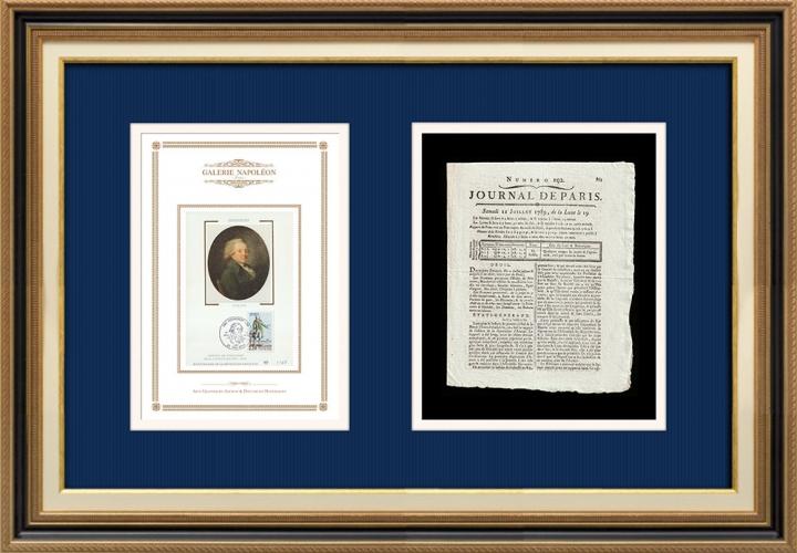 French Revolution - Journal de Paris - Saturday, July 11, 1789 | Portrait of Nicolas de Condorcet (1743-1794)