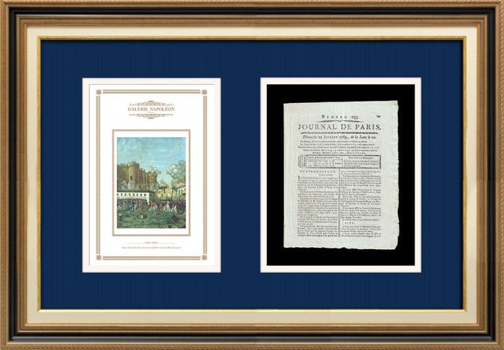 Revolução Francesa - Journal de Paris - Domingo, dia 12 de Julho de 1789 | Tomada da Bastilha - Detenção de M. de Launay (Jean Dubois)