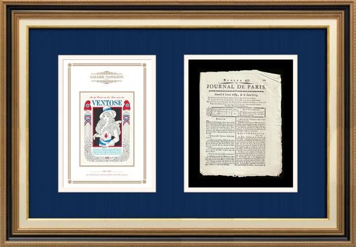 Revolução Francesa - Journal de Paris - Sábado, dia 6 de Junho de 1789 | Calendário Revolucionário Francês - Ventôse