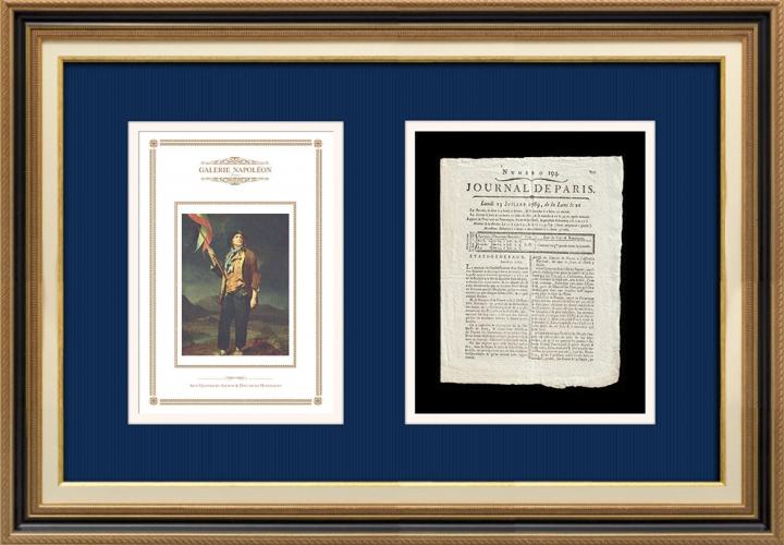French Revolution - Journal de Paris - Monday, July 13, 1789 | Portrait of singer Simon Chenard in sans-culotte costume (Louis Léopold Boilly)