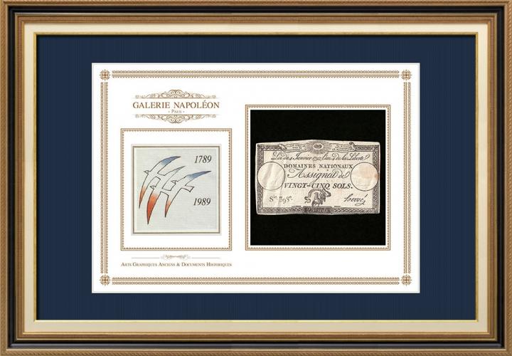 Assignaat van 25 sols - Franse Revolutie - 1792 | Tweehonderdste verjaardag van de Franse Revolutie