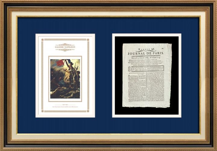 Revolução Francesa - Journal de Paris - Quarta-feira, dia 15 de Julho de 1789 | A Liberdade guiando o povo (Eugène Delacroix)