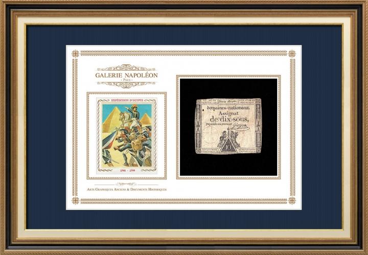 Assignaat van 10 sous - Franse Revolutie - 1792 | Bonaparte - Expeditie naar Egypte
