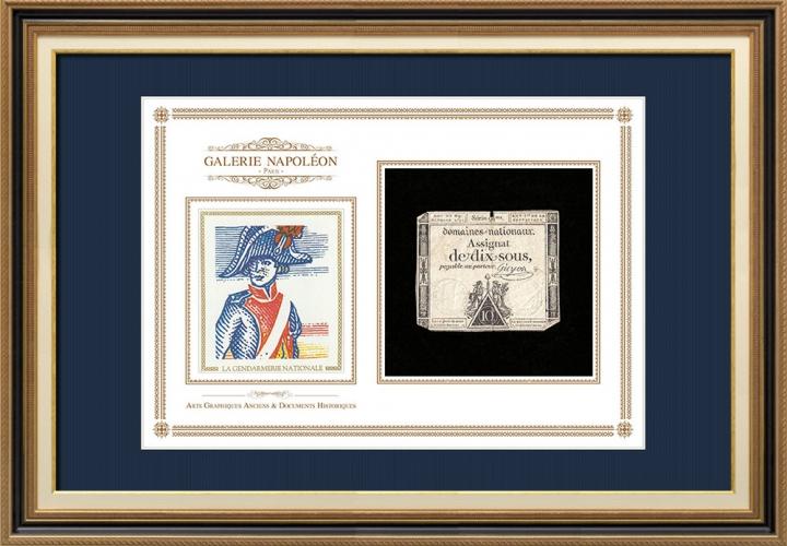 Assignaat van 10 sous - Franse Revolutie - 1792 | Tweehonderdste verjaardag van de Gendarmerie Nationale