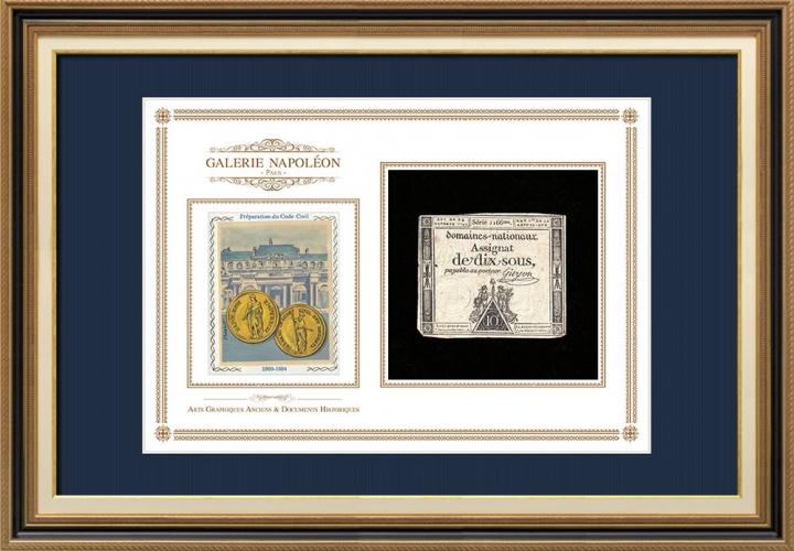 Assignaat van 10 sous - Franse Revolutie - 1792 | Bonaparte - Voorbereiding van het Burgerlijk Wetboek - Code Napoléon