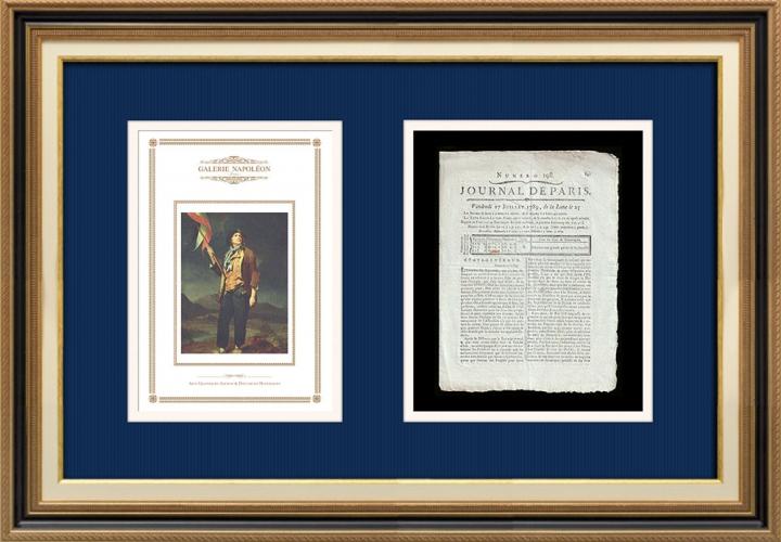 French Revolution - Journal de Paris - Friday, July 17, 1789 | Portrait of singer Simon Chenard in sans-culotte costume (Louis Léopold Boilly)