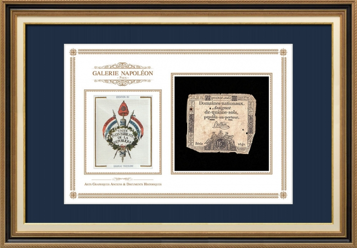 Assignaat van 15 sols - Franse Revolutie - 1792 | Oprichting van de Driekleurenvlag