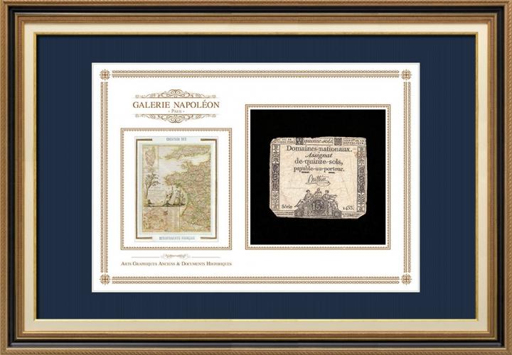 Assignaat van 15 sols - Franse Revolutie - 1792 | Oprichting van Franse Départements