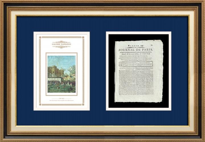 Revolução Francesa - Journal de Paris - Sábado, dia 18 de Julho de 1789 | Tomada da Bastilha - Detenção de M. de Launay (Jean Dubois)