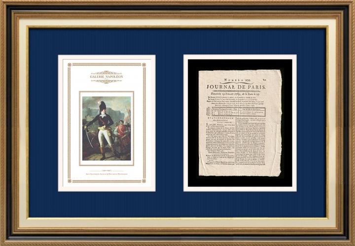 French Revolution - Journal de Paris - Sunday, July 19, 1789 | A Winner of the Bastille (Charles Thevenin)
