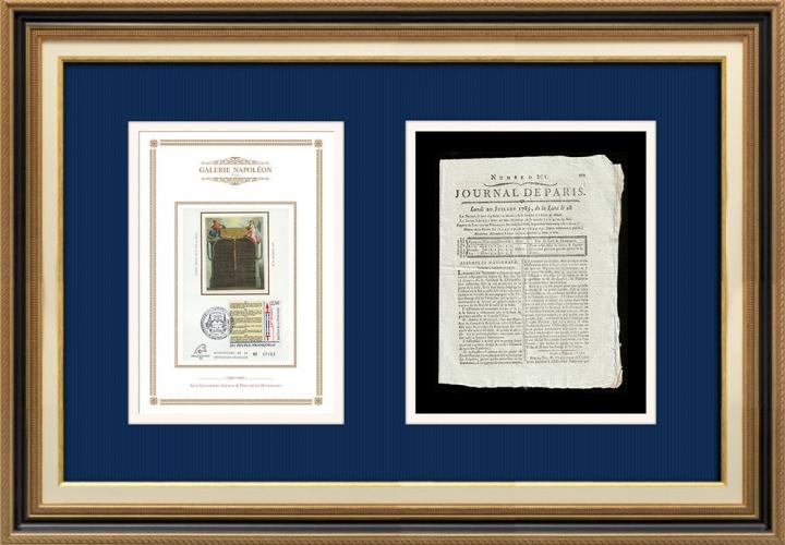 Revolução Francesa - Journal de Paris - Segunda-feira, dia 20 de Julho de 1789 | Declaração dos Direitos do Homem e do Cidadão (1789)