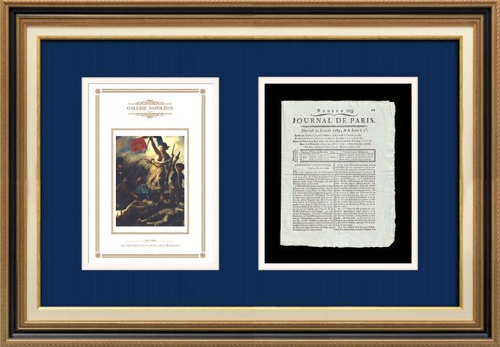 Revolução Francesa - Journal de Paris - Quarta-feira, dia 23 de Julho de 1789 | A Liberdade guiando o povo (Eugène Delacroix)
