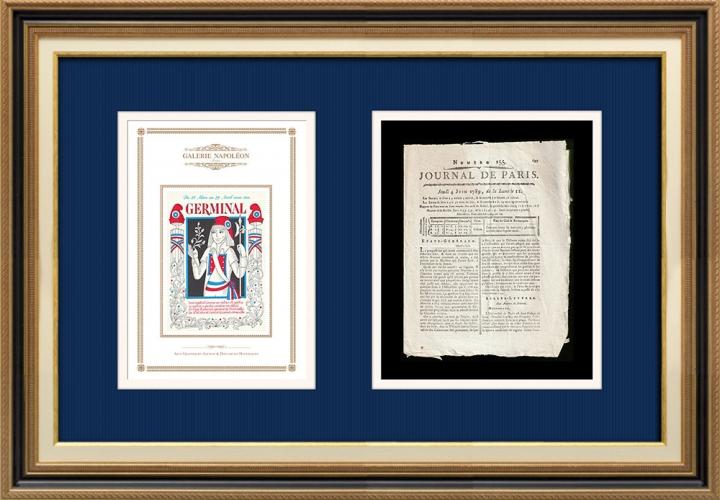 Revolução Francesa - Journal de Paris - Quinta-feira, dia 4 de Junho de 1789 | Calendário Revolucionário Francês - Germinal