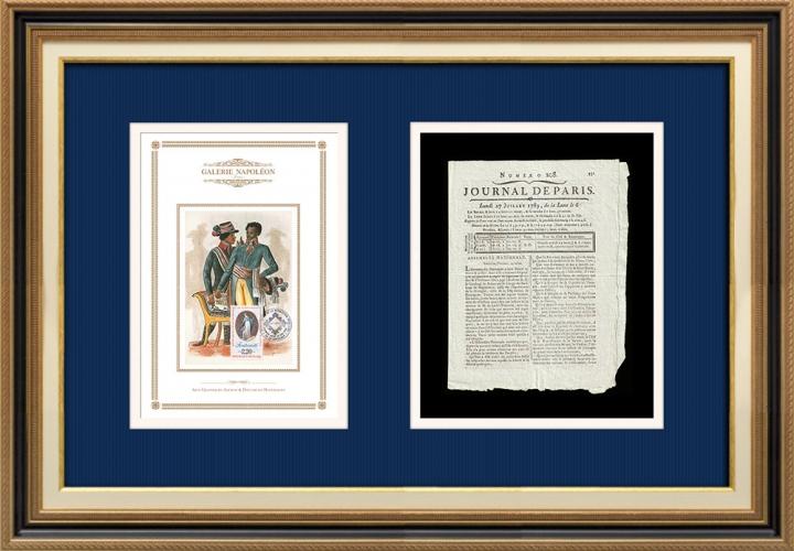 Revolução Francesa - Journal de Paris - Segunda-feira, dia 27 de Julho de 1789 | Lema da Revolução Francesa - Fraternidade