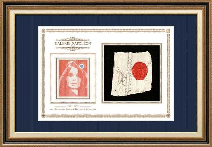 Sigillo di cera - Rivoluzione Francese - 1794 - 78º Semi-brigata | Ritratto di Marianne - Rappresentazione nazionale allegorica della Repubblica francese