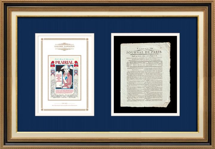 Revolução Francesa - Journal de Paris - Quinta-feira, dia 29 de Abril de 1790 | Calendário Revolucionário Francês - Prairial