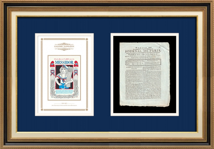 Revolução Francesa - Journal de Paris - Sexta-feira, dia 30 de Abril de 1790 | Calendário Revolucionário Francês - Messidor