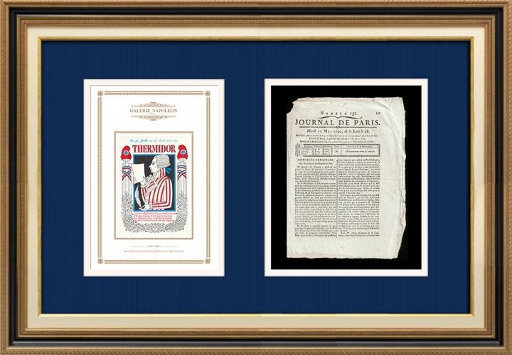 Revolução Francesa - Journal de Paris - Terça-feira, dia 11 de Maio de 1790 | Calendário Revolucionário Francês - Thermidor