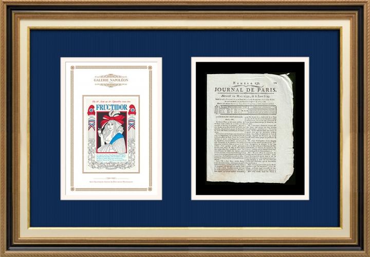 Revolução Francesa - Journal de Paris - Quarta-feira, dia 12 de Maio de 1790 | Calendário Revolucionário Francês - Fructidor