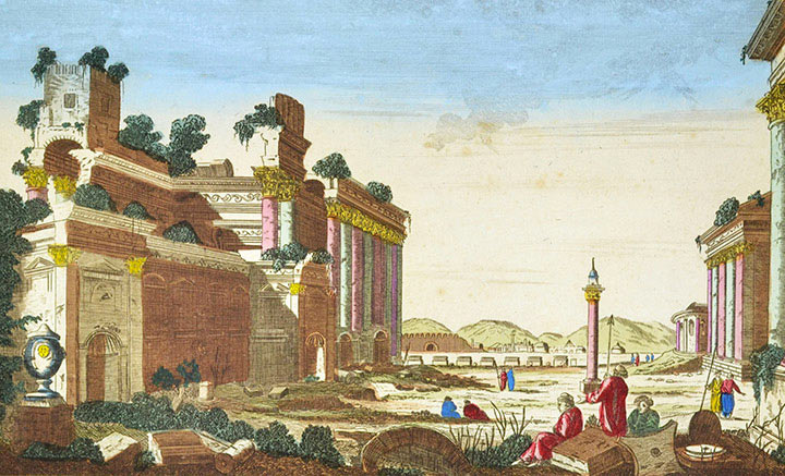 Vue d'optique Widok Świątynia w Baalbek (Liban)